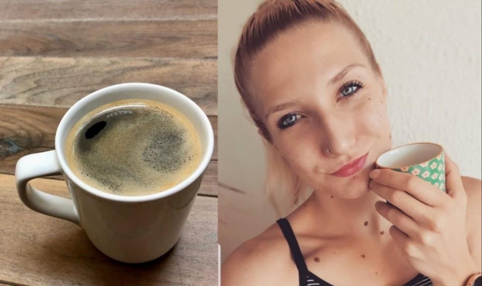 Afkicken van de cafeïne.